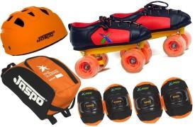 JASPO Jaspo Velocity Intact Shoe Skates Combo SIZE 12 UK (shoe skates+ helmet+knee+elbow+bag)Foot length 19.0 cms ( For age group 5-6years) Skating Kit