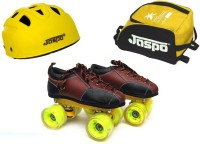 Jaspo Whoosh Dual Shoe Skates Combo SIZE:8 UK (shoe skates+ helmet+bag)Foot length 26.3 cms(For age 15 years and above) Skating Kit