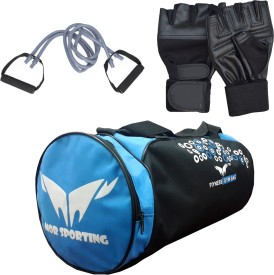 Mor Sporting Weight Lifting gloves, double Toning Tube and Duffle Bag Gym & Fitness Kit