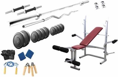 Protoner 32 Kgs & Lifeline Bench Gym & Fitness Kit