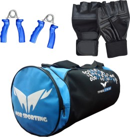 Mor Sporting Weight Lifting gloves, power grip and Duffle Bag Gym & Fitness Kit
