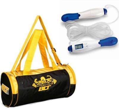 BLT Prism Gym Bag With Digital Display Skipping Rope Gym & Fitness Kit