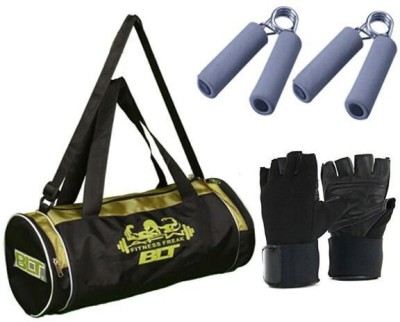 Blt Passion Duffel Bag With 1 Pair Exercise Gloves & 2 Power Grips Gym & Fitness Kit