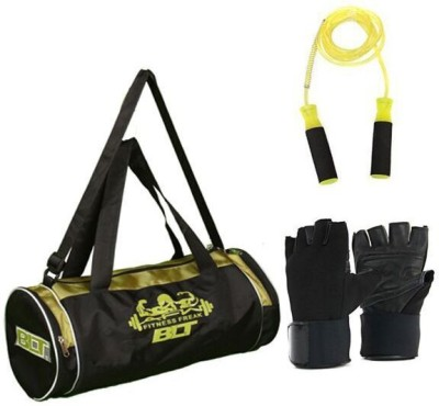 BLT Passion Duffel Bag With 1 Skipping Rope & 1 Pair Exercise Gloves Gym & Fitness Kit