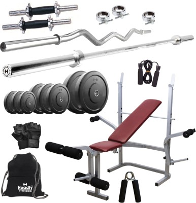 Headly 80 kg Combo 8 Home Gym & Fitness Kit
