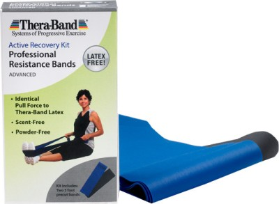 Thera-Band Advanced Latex Free Resistance Bands Gym & Fitness Kit