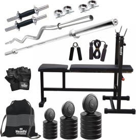 Headly 22 kg Combo BB 5 Convenient Gym & Fitness Kit