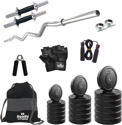 Headly 16 kg Combo BB 3 Convenient Gym & Fitness Kit