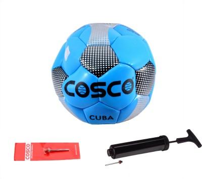 Cosco Cuba (Size 5) with Air Pump Combo Football Kit