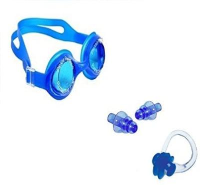 Kyachaiyea Swimming Kit (Silicon Ear Plug, Silicon Nose Clip, Swimming Goggles) Swimming Kit