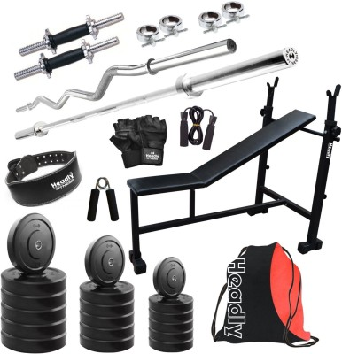 Headly HR-90 kg Combo 6 Gym & Fitness Kit