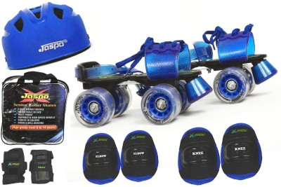 Jaspo Passion Pro Superior Senior Skates Combo (skates+helmet+knee+elbow+wrist+bag)suitable for age upto 6 to 14 years Skating Kit