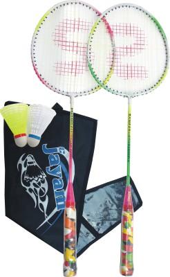 Jayam Rangeila Double (2 Racket + 2 Shuttle + Cover) Badminton Kit