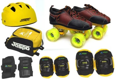 Jaspo Whoosh Pro Shoe Skates Combo SIZE:13 UK JUINOR(shoe skates+ helmet+knee+elbow+wrist+bag)Foot length 20.5 cms ( For age group 6-7 years) Skating Kit