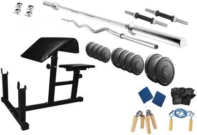 Protoner 42 Kgs & Preacher Bench Gym & Fitness Kit