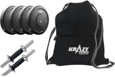 Krazy Fitness Pvc Adjustable Dumbbells 8kg With Back Pack Gym & Fitness Kit