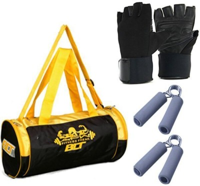 BLT Prism Duffel Bag With 1 Pair Exercise Gloves & 1 Pair Power Grips Gym & Fitness Kit