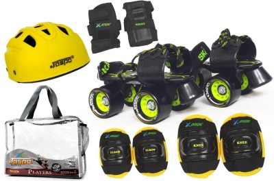 Jaspo Players Pro Senior Skates Combo (skates+helmet+knee+elbow+wrist+bag)suitable for age 6 to 14 years Skating Kit