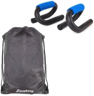 Livestrong Fitness Combo Of String Bag Black+ S-Shape Push Up Bar Gym & Fitness Kit