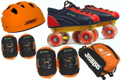 Jaspo Jaspo Saphire Intact Shoe Skates Combo SIZE 13 UK (shoe skates+ helmet+knee+elbow+bag) Foot length 20.5 cms ( For age group 6-7 years) Skating Kit