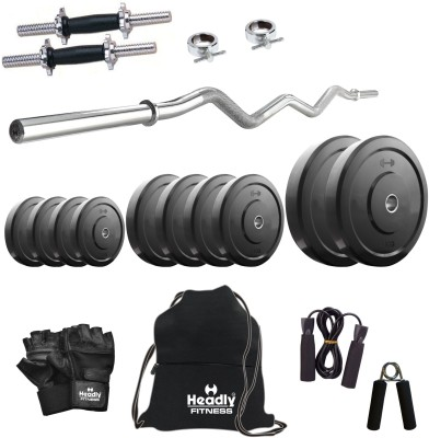 Headly 15 kg Combo 3 Home Gym & Fitness Kit
