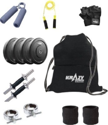 Krazy Fitness Adjustable Dumbbells 8Kg With Accessories Gym & Fitness Kit
