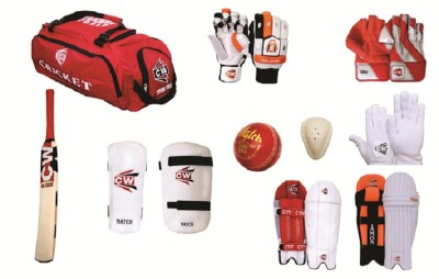 CW Premium with Batting & Keeping Accessories in Senior Size Cricket Kit