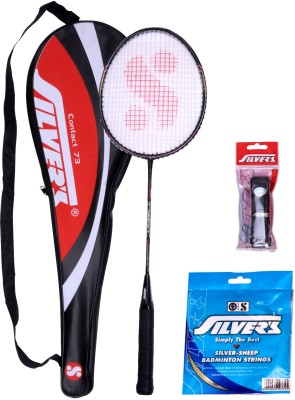 Silver's Contact Badminton Kit(1 Racquet with Cover, 1 PVC Grip and 10 m 0.80 mm String)