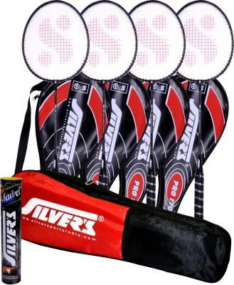Silvers Pro-170 Combo 5 Badminton Kit