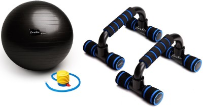 Xerobic Pseudo Planche Push-up Set Workout and Stability Black Anti-Burst Non-Slip Exercise Ideal for Abs, Shoulder, Thigh Toning Unisex Gym & Fitness Kit