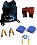 Facto Power Gym Bag, Gym Glvoes, Skippin...