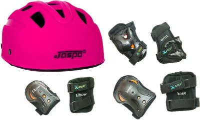 Jaspo safe-max multi purpose protective set pink Skating, Cycling Kit
