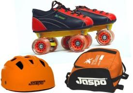Jaspo Saphire Dual Shoe Skates Combo SIZE 13 UK (shoe skates+ helmet+bag) Foot length 20.5 cms ( For age group 6-7 years) Skating Kit
