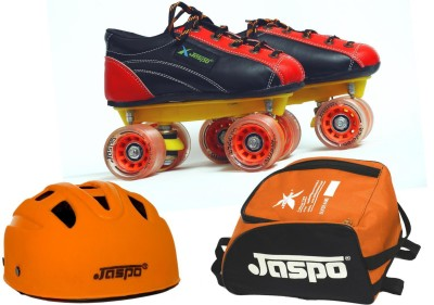 Jaspo Jaspo Saphire Dual Shoe Skates Combo SIZE 1 UK (shoe skates+ helmet+bag) Foot length 21.9 cms ( For age group 7-8 years) Skating Kit