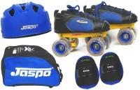Jaspo Jaspo Sprint Eco Shoe Skates Combo SIZE 3 UK (shoe skates+ helmet+knee+bag)Foot length 23.5 cms(For age group 9-10 years) Skating Kit