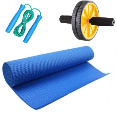 LIVESTRONG FITNESS KIT YOGA MATT 4MM+ AB WHEEL+ SKIPPING ROPE Gym & Fitness Kit