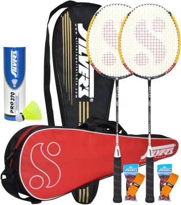 Silver's Reflex Combo 2 with Yellow Nylon Shuttle Badminton Kit