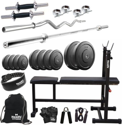 Headly 75 kg Combo 6 Home Gym & Fitness Kit