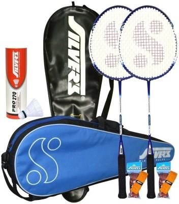 Silver's Delta Combo 2 with White Nylon Shuttle Badminton Kit