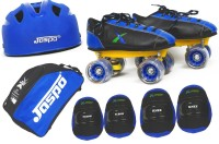 Jaspo Waves Intact Shoe Skates Combo Size 2 Uk (Shoe Skates+ Helmet+Knee+Elbow+Bag) Foot Length 22.9 Cms ( For Age Group 8-9 Years) Skating Kit