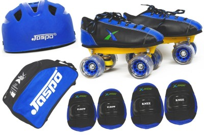 Jaspo Jaspo Waves Intact Shoe Skates Combosize 3 Uk (Shoe Skates+ Helmet+Knee+Elbow+Bag) Foot Length 23.5 Cms ( For Age Group 9-10 Years) Skating Kit