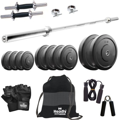 Headly 15 kg Combo 9 Home Gym & Fitness Kit