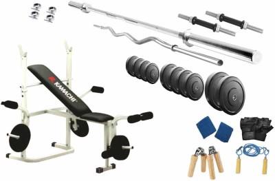 Protoner 82 Kgs & Kamachi Bench Gym & Fitness Kit