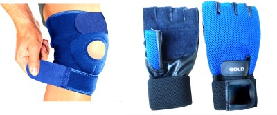 Vinto FIT ALL Combo Knee Support And Gloves Gym & Fitness Kit