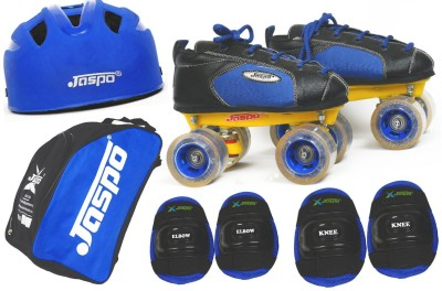 Jaspo Swift Intact Shoe Skates Combo(shoe skates+ helmet+knee+elbow+bag)Foot length 25.7 cms (For age group 13-14 years) Skating Kit