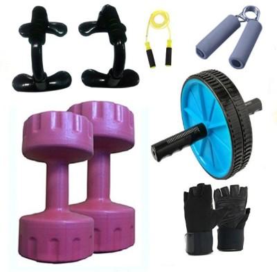 Krazy Fitness Exercise Combo With 2 Pc 3 Kg Pvc Dumbbells Gym & Fitness Kit