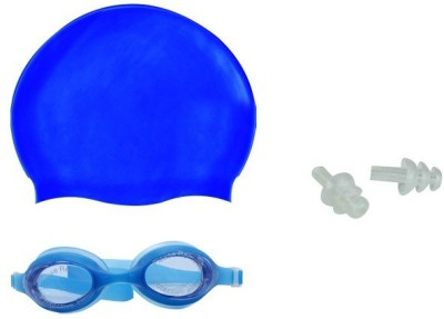 Asfit Goggle with Cap & Ear Plugs Swimming Kit