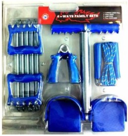 Mor Sporting Combo Of Chest Expander, Tummy Trimmer, Hand Griper & Skipping Rope Gym & Fitness Kit