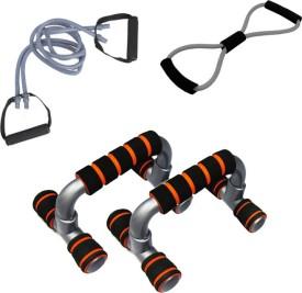 Mor Sporting Double Toning Tube,8shaped Yoga latex tube,foldable Push up bar Gym & Fitness Kit