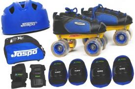 JASPO Swift Pro Shoe Skates Combo(shoe skates+ helmet+knee+elbow+wrist+bag)Foot length 27.5 cms(For age 16 years and above) Skating Kit